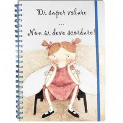 """Quaderno A4 120 fogli spirale/elastico - pagine: righe/quadretti/bianche """"Di saper volare..."""" Le Nasute"""