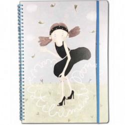 """Quaderno A4 60 fogli spirale ed elastico a righe """"Irresistibilmente donna"""" Le Nasute"""